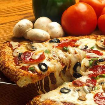 Extra gombás pizza 30cm